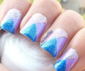 nails, blue, and purple image