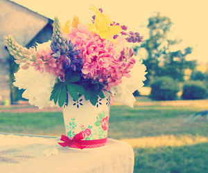 flowers, gift, and summer image