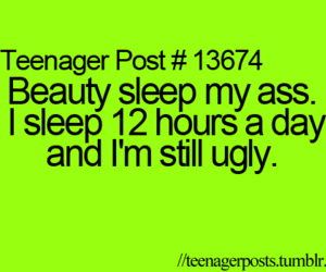 ugly, sleep, and teenager post image