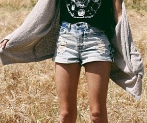 cardigan, indie, and shorts image