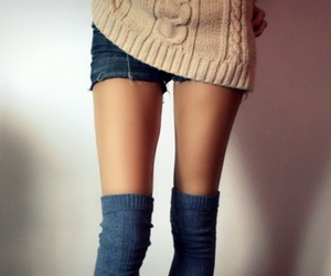 girl, legs, and skinny image