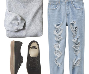 clothes, sneakers, and jeans image