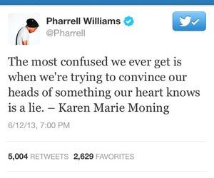 pharrell, quote, and tweet image