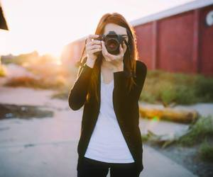 black hat, girl, and photography image