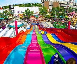 fun, summer, and slide image