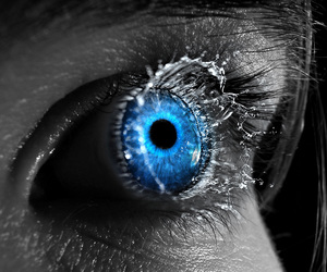 eye and pretty blue eyes image