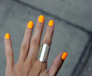 nails, orange, and ring image