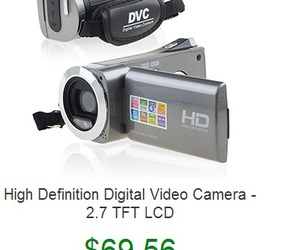 digital camera, free shipping, and video cameras image