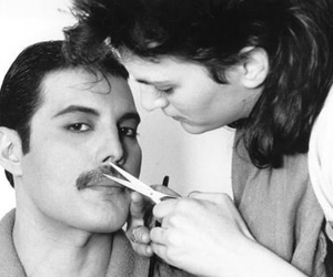Freddie Mercury, Queen, and mustache image