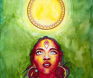 African, sun, and art image