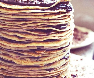 chocolate, pancakes, and food image