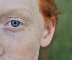 freckles, blue eyes, and girl image