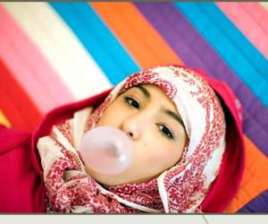 bubblegum, colourful, and girl image