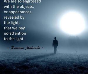 light, quote, and ramana maharshi image