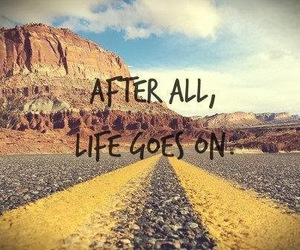 life, quote, and road image