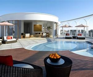 Houses and pool image