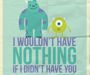 monsters inc, quote, and song image
