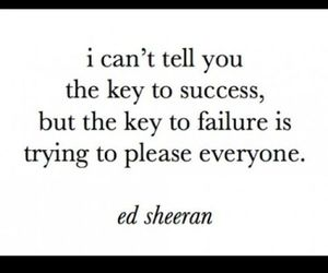 quote, ed sheeran, and failure image