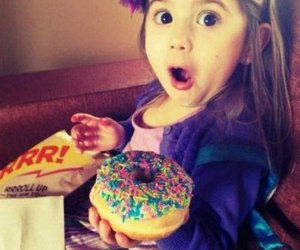 baby and donuts image