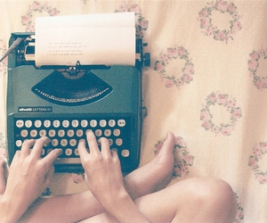 vintage, typewriter, and write image