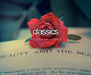 classics, beauty and the beast, and rose image