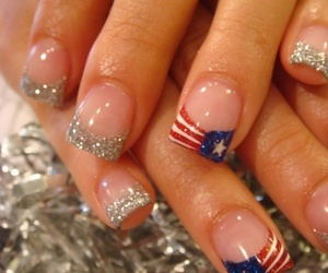 nails, america, and flag image