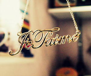 necklace, je t'aime, and french image