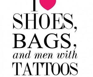 bag, tattoo, and shoes image