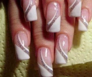 nails, nail art, and white image