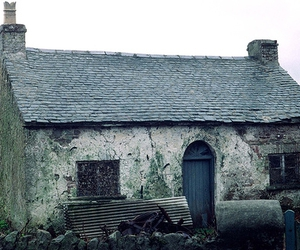 cottage, derelict, and hut image