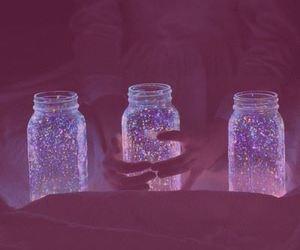 light, blue, and jar image