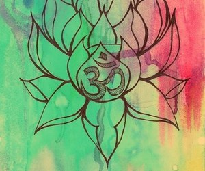 lotus, om, and flower image