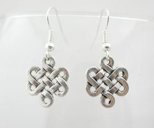 earrings, silver, and jewelry image