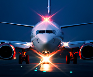 airplane, light, and airline image