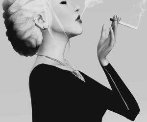 black and white, smoking, and sims 3 image
