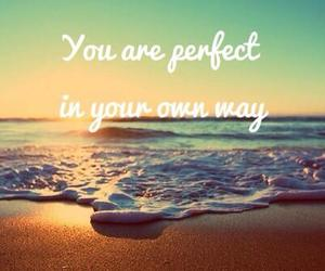 beach, life, and quote image