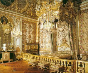 gold, palace, and versailles image