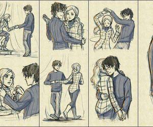 harry potter, dance, and hermione image