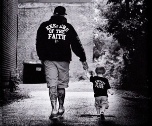 tattoo, boy, and father image