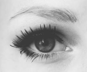 eye, eyes, and black and white image