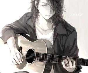 anime, guitar, and boy image