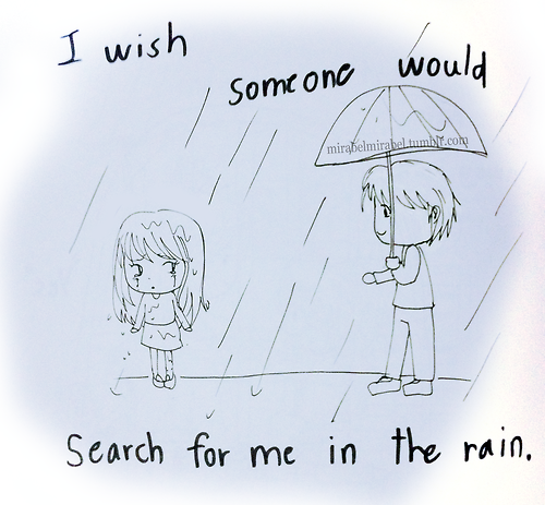 Searching In The Rain Via Tumblr On We Heart It