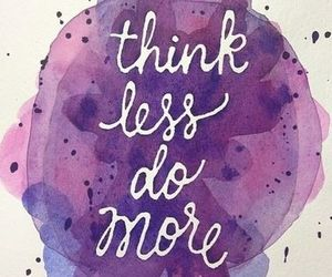 quote, think, and purple image
