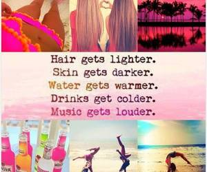 summer, drinks, and hair image