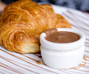 candy, chocolate, and croissant image