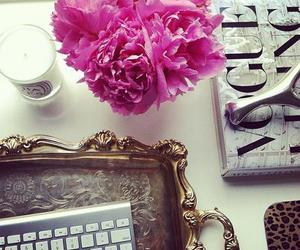 decor, flores, and home office image