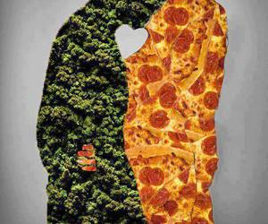 pizza, love, and weed image