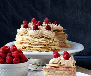 buttercream, cake, and crepe cake image