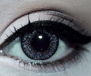 eye, girl, and eyeliner image