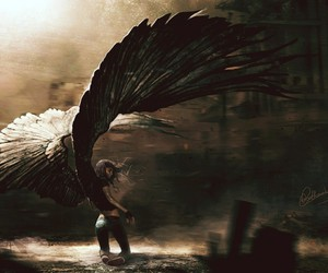 angel, wings, and art image